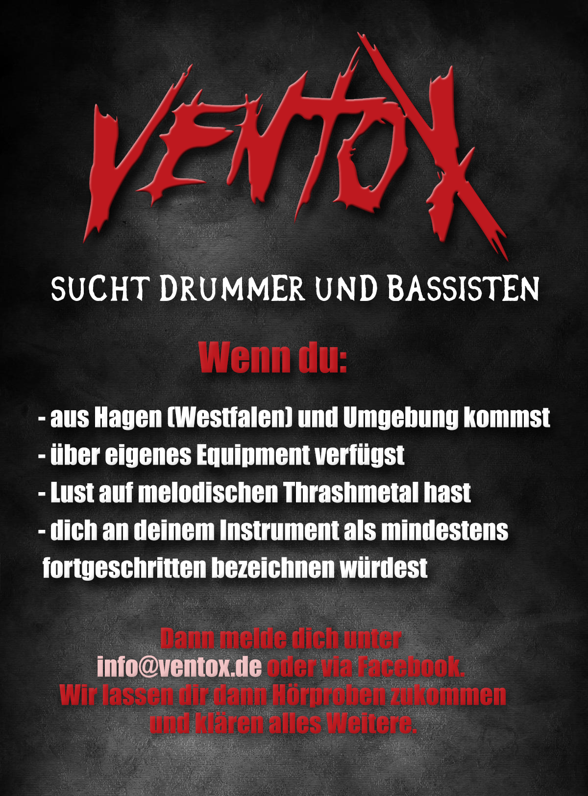 Drummer & bass player wanted!